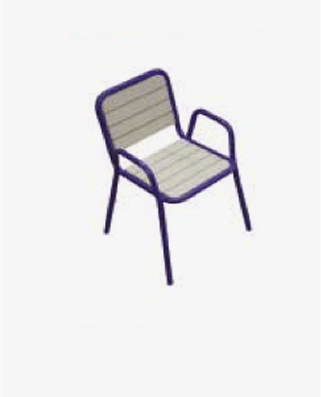 PL-C1 plastic lumber stacking chair Image