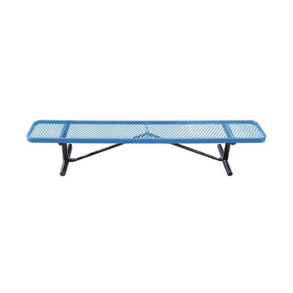 6 Inches Standard Blue Expanded Bench Without Back Portable