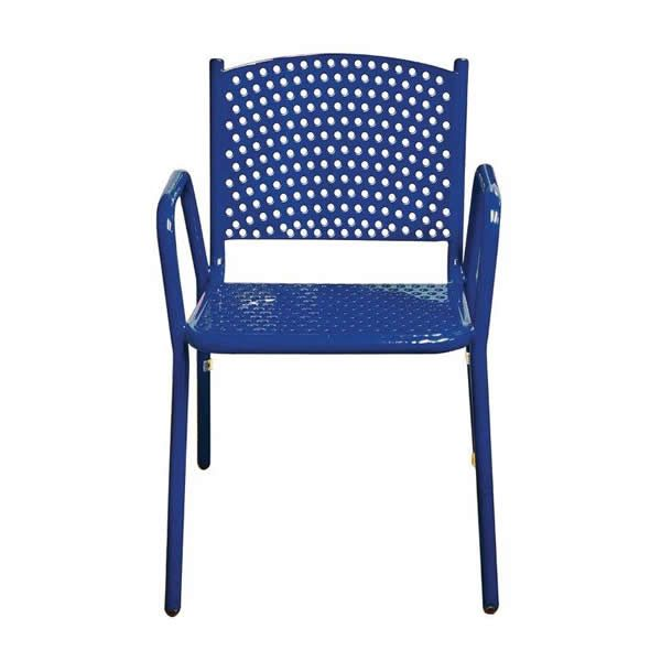 Perforated Navy Stacking Chair