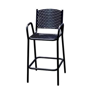 Perforated Black R Stacking Chair