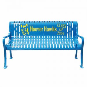 Hoover Hawks Class of 2009 Blue Metal Bench
