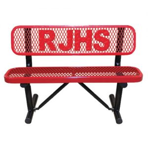 RJHS Red Metal Bench