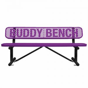 Purple Metal Buddy Bench